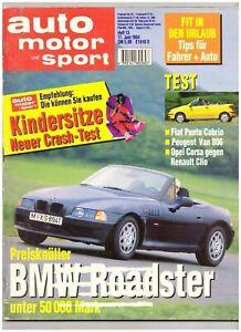 AUTO MOTOR SPORT 13/1994, BMW Roadster, Peugeot 806 2,0 Turbo, Fiat Punto Cabrio - Bayern, Deutschland - AUTO MOTOR SPORT 13/1994, BMW Roadster, Peugeot 806 2,0 Turbo, Fiat Punto Cabrio - Bayern, Deutschland