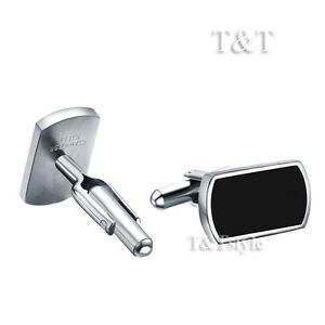 Top-Quality-T-amp-T-316L-Stainless-Steel-Cufflinks-CU34