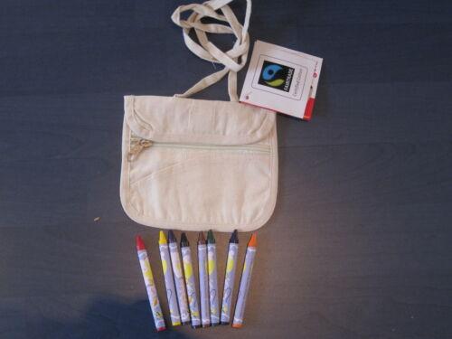 selber bemalen NEU incl Brustbeutel z 8 Textilstifte