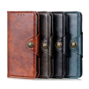 For HTC Desire 20 Pro Luxury Magnetic Flip Leather Cover Business Wallet Case