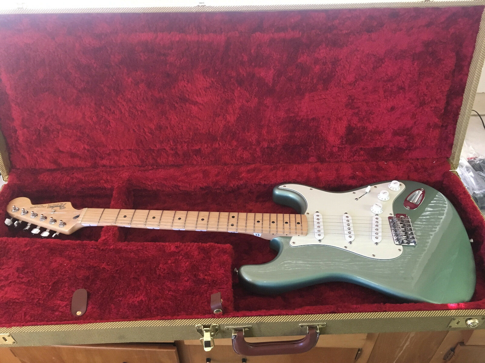Used Fender Stratocaster - Made in Mexico  2003 Antique Olive With Hard Case