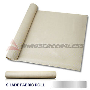 dff970e9dc58 Details about 6' or 8' Beige/Tan Fabric Shade Cloth Roll Fence Net Sun Wind  Screen Cover