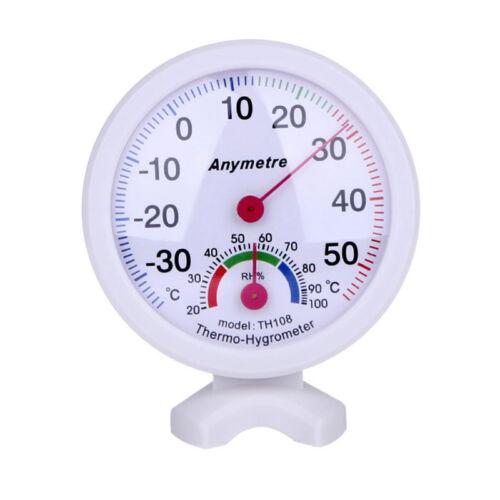 Mini Hygrometer Thermometer Set Luftfeuchtigkeit//Temperatur//Analog//Bimetall//weiß
