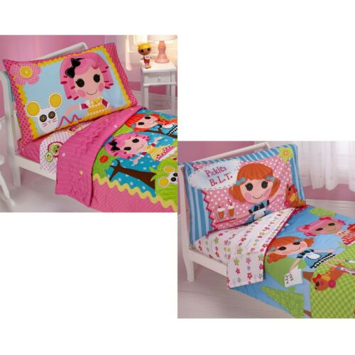 Girls Cute Nursery Comforter Sheets Pillowcase LALALOOPSY TODDLER BEDDING SET