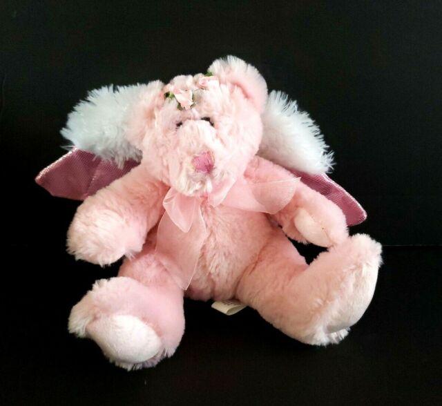 Recordable Teddy Bear Walmart, Burton Burton Pink Angel Bear Plush Stuffed Animal Wings Bow Ebay