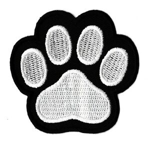 Patch-ecusson-patche-trace-patte-chien-thermocollant-hotfix-brode-badge-Paw