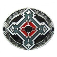 Gürtelschnalle Buckle Gürtelschließe für Wechselgürtel Indianisches Ornament