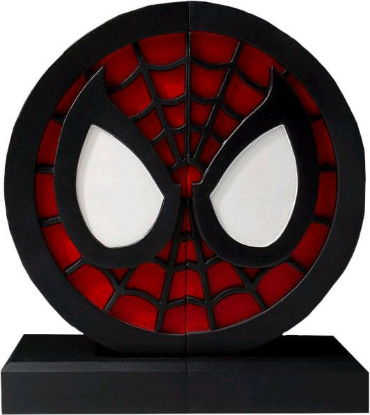 SPIDERMAN - Logo Polystone Bookend Set 6  x 13  x 6  (Gentle Giant)  NEW