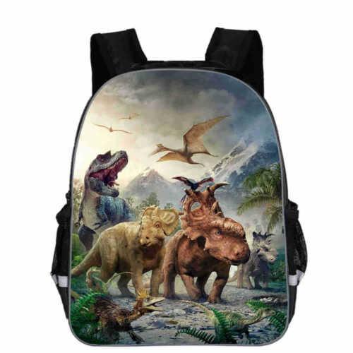 "13/""-16/""Jurassic World Movie Dinosaur Park Boys Backpack School Bag Kids Rucksack"