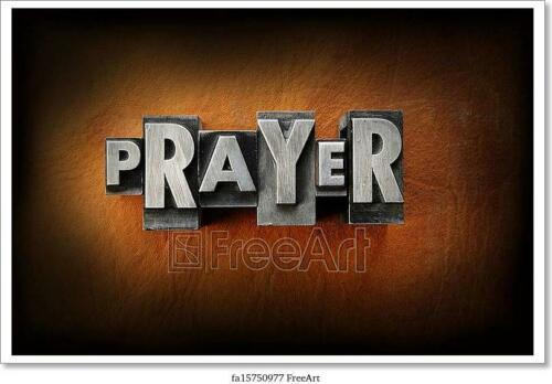 Wall Art Prayer Art//Canvas Print Home Decor Poster