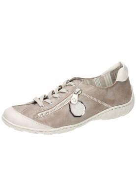 Rieker M3724 80 Damen Halbschuh Schnürschuh Sneaker grau