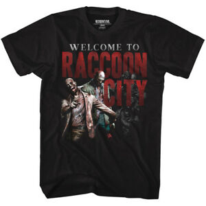 Resident-Evil-New-Official-T-Shirt-Welcome-To-Racoon-City-BLK-Sizes-SM-5XL