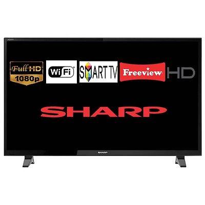 "Brand New Sharp LC-49CFG6001K 49"" Smart LED TV Full HD 1080p WiFi Freeview HD"