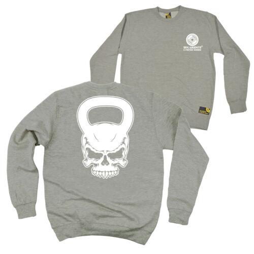 Novelty Sweater Jumper Skull Kettlebell FB Gym Bodybuilding Sweatshirt