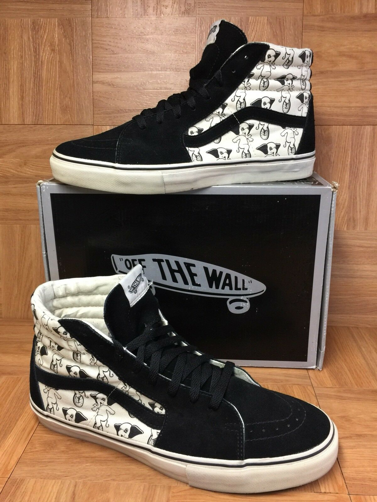 EUC� VANS Sk8-Hi Vault LX Uniphant Sz 13 Skateboarding Shoes Black Turtledove