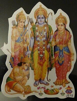 Window Hindu Sticker! * RAMA SITA LAKSHMANA & HANUMAN * 12.2cm x 9.2cm (JS-12)