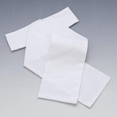 Elico White Cotton Plain White Ready Tied Pre Tied  Stock Small Medium Large