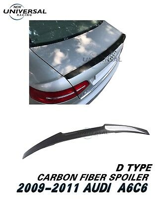 Carbon Fiber Rear Trunk Spoiler Wing For 2009-2011 Audi A6 C6 Sedan 4dr Type E