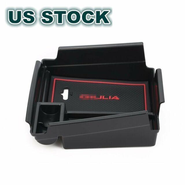 Armrest Storage Box With No-Slip Mat For Alfa Romeo Giulia 2017-2018