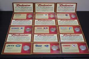 Nine-Super-Bowl-XXXVI-Budweiser-Commemorative-Medallions
