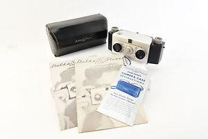 Vintage Stereo 35mm Film Camera Lennor Delta with Original Case Manual NEAR MINT