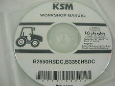 Genuine Kubota Service Manual B2650HSDC, B3350HSDC Tractor