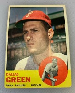 1963 Topps # 91 Dallas Green Baseball Card Philadelphia Phillies