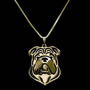 "BOXER DOG BRITISH BULLDOG CHARM NECKLACE 18/"" SILVER CHAIN"