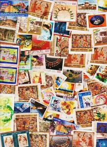 INDIA-400-USED-STAMPS-LOT-ON-PAPER-COND-MIX-GOOD-amp-DAMAGE