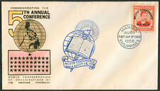 1956 Philippines COMMEMORATING THE 5TH ANNUAL CONFERENCE First Day Cover