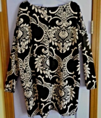 Dual Large Black Tunic White Damask Pocket EwHqRBH