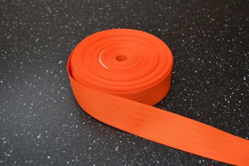 "1 5 or 10 metre lengths 1 1//2/"" // 40mm Nylon Webbing Various Colours"