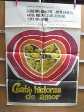 A2332  CUATRO HISTORIAS DE AMOR. CATHERINE DENEUVE, ANITA EKBERG, NADJA TILLER