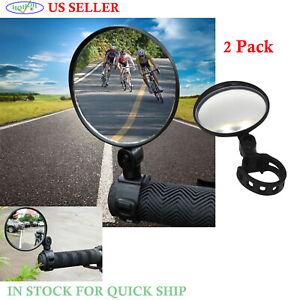 2//4//8Pcs Mini Rotaty Handlebar Glass Rear view Mirror for Road Bike Bicycle Best