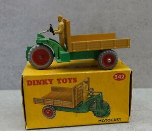 Dinky Toys 342/27g Motocart muy casi nuevo y sin usar en caja