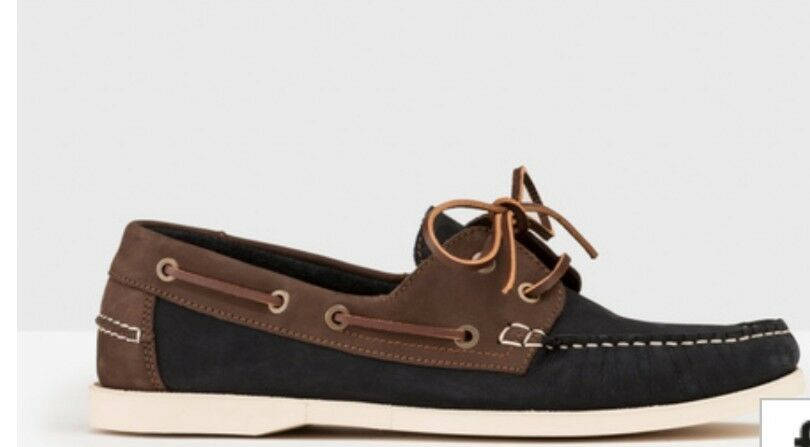 Boden Mens Navy/Brown 43 Boat Shoes Size EU 43 Navy/Brown RRP £80 6ee7f8