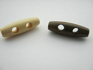 10-Wood-Toggle-Buttons-30mm-1-1-8-034-Duffel-Coat-Buttons-Clothes-Sewing-Buttons