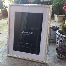 "TAHARI Home Silver 5/"" x 7/"" Rectangular Photo Picture Frame Braid Style NEW"