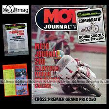 MOTO JOURNAL N°407 HONDA XLS YAMAHA XT 500 SUZUKI SP 370 RUSS COLLINS DRAGSTER