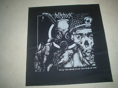"""HELLSHOCK """"ONLY THE DEAD KNOW THE END OF WAR"""" BACK PATCH TRAGEDY PUNK HARDCORE"""