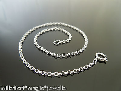1.5mm FINE Sterling Silver Belcher Chain Bracelet, Anklet OR Necklace