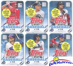 2021 Topps Series 1 Baseball Complete 6 Box TIN SET-450 Cards-Trout,Judge,Acuna+