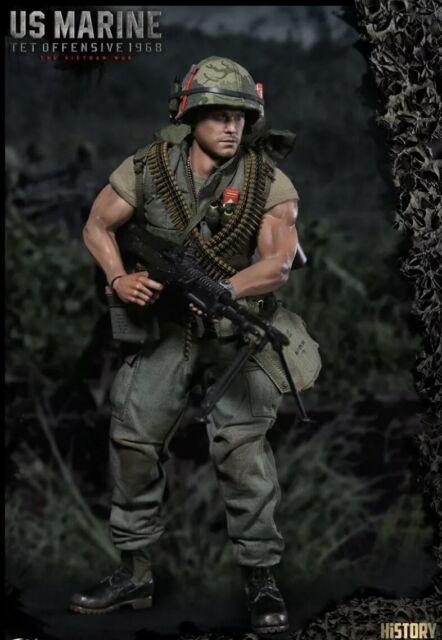 1:6 scale DAM TOYS 78038 USMC TET OFFENSIVE Vietnam War Pistol More