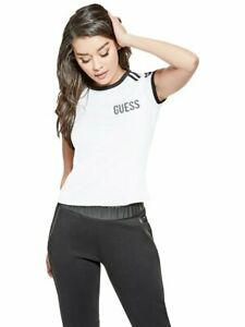 GUESS-Factory-Women-039-s-Zetta-Logo-Ringer-Tee
