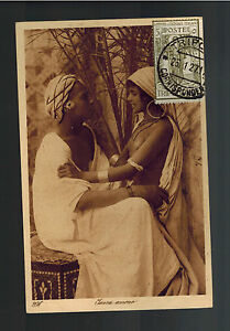 1927 Tripoli Libya Real Picture Postcard Cover to USA Two Native WOmen