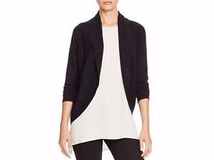 NWT-Elie-Tahari-T-Tahari-Black-Wool-Blend-GLORIA-Shawl-Collar-Cardigan-Sweater