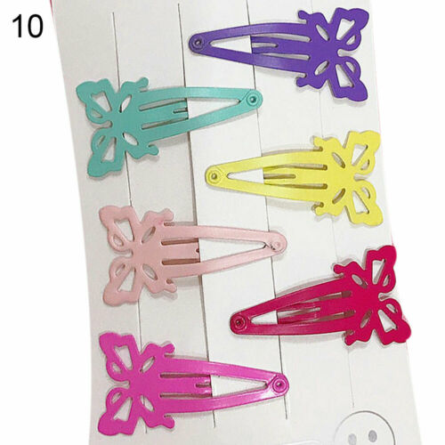 6× CANDY COLOR HEART STAR SHAPE BB HAIRGRIP SIDE BANGS HAIR CLIPS BARRETTE FUNNY