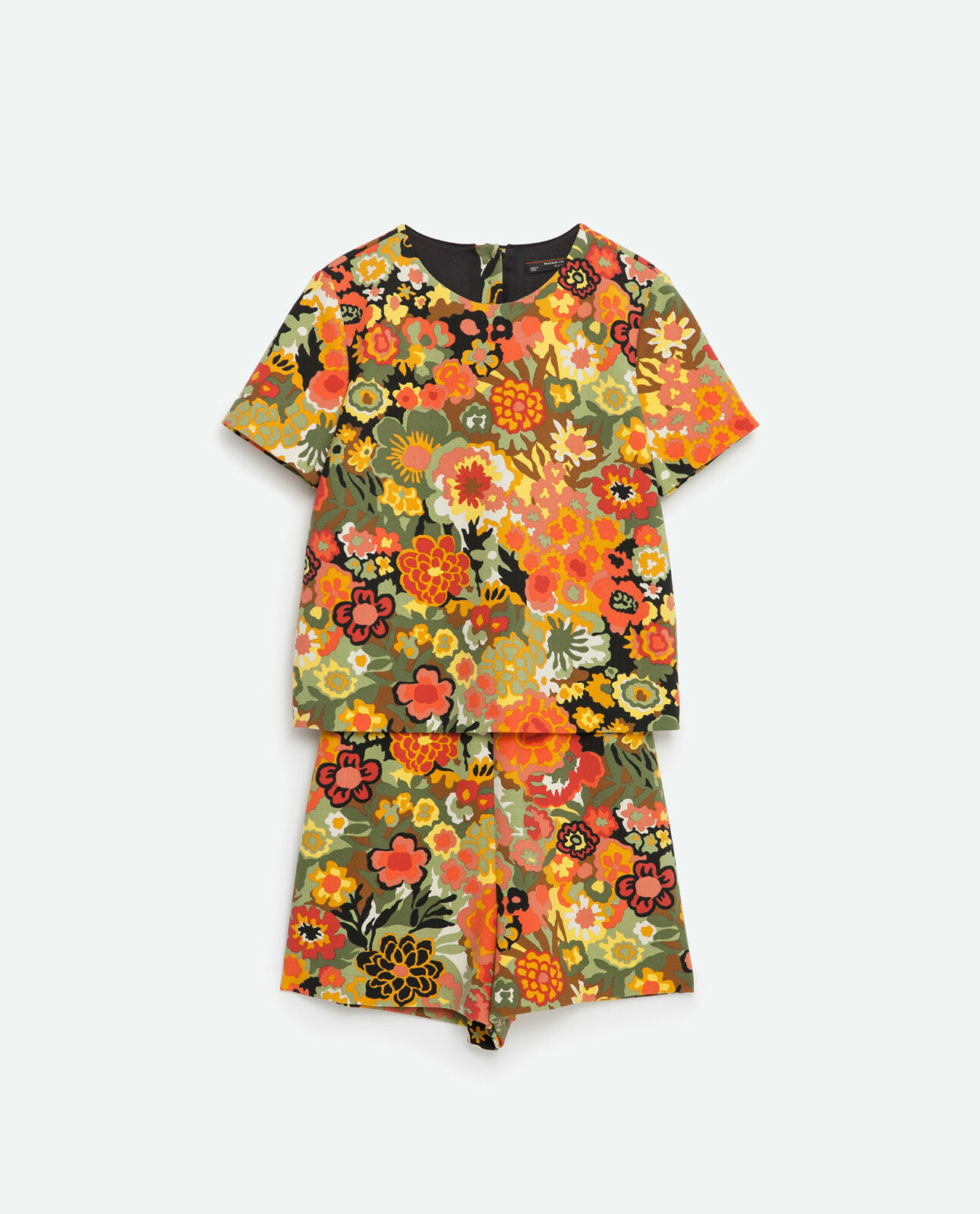 ZARA SHORT FLORAL JUMPSUIT, Size SMALL