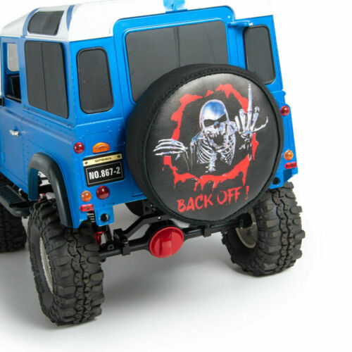 """Leather Spare Tire Cover For 1.9/"""" /& 115mm OD Tyres 1//10 RC Crawler TRX4 SCX10 US"""
