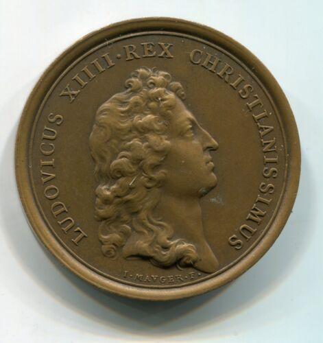 Alte Bronze Medaille aus Frankreich: LUDOVICUS XIIII REX CHRISTIANISSIMUS